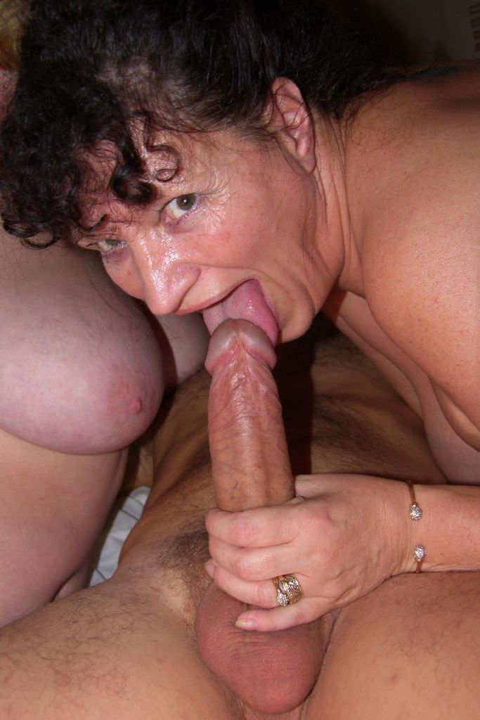 Older chubby wife sucking his cock 4